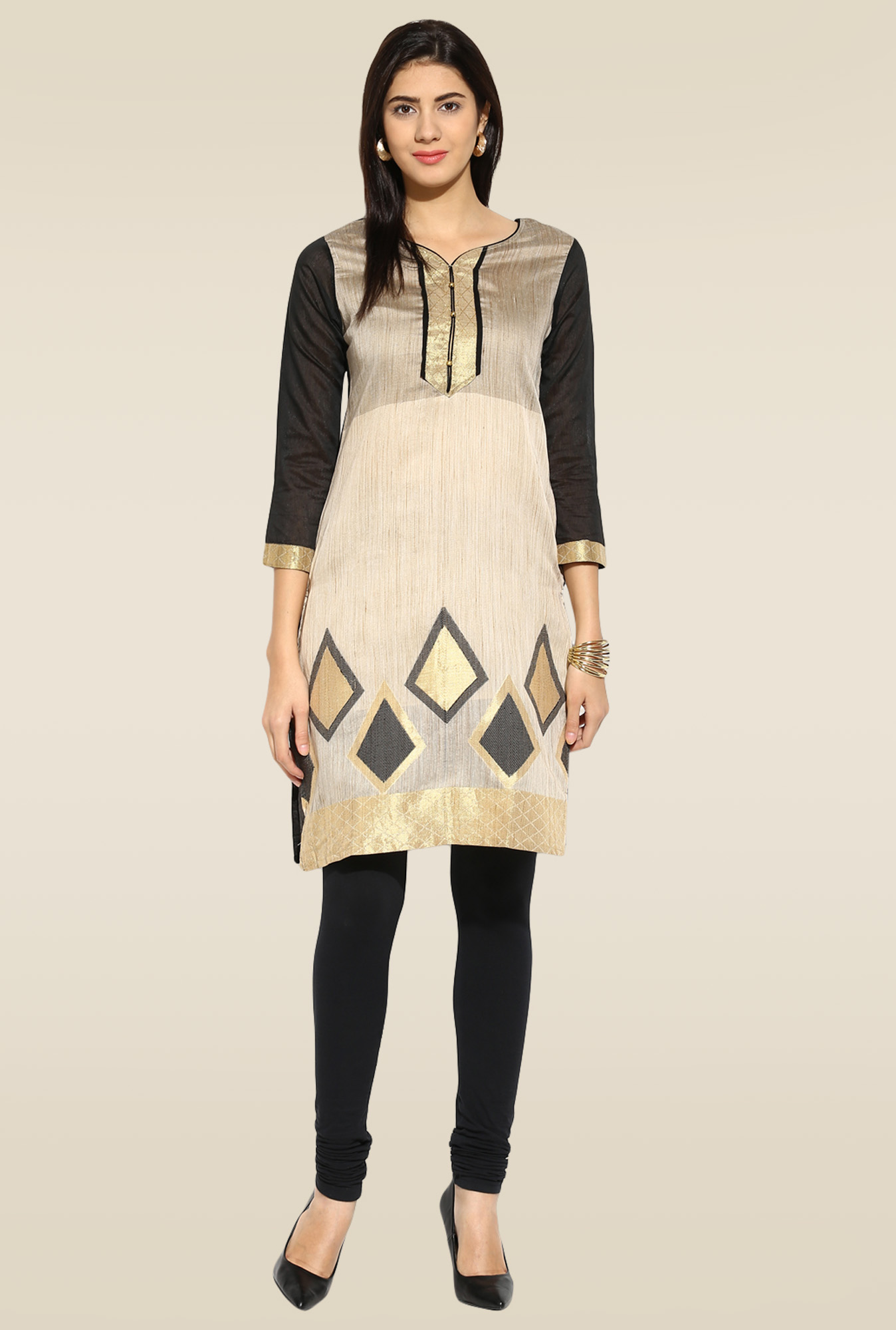 Mytri Grey Embroidered Kurta