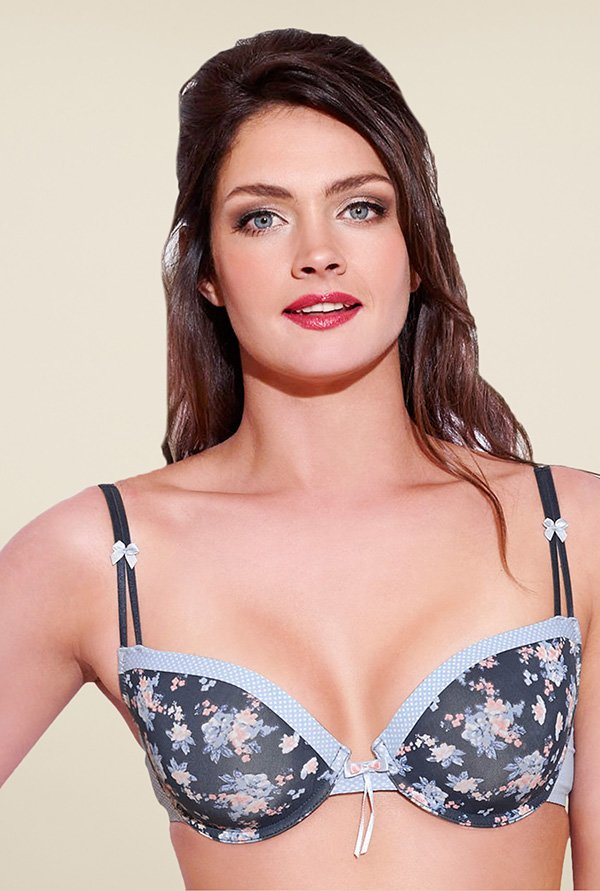 Enamor Blue Under Wired Padded Plunge Bra