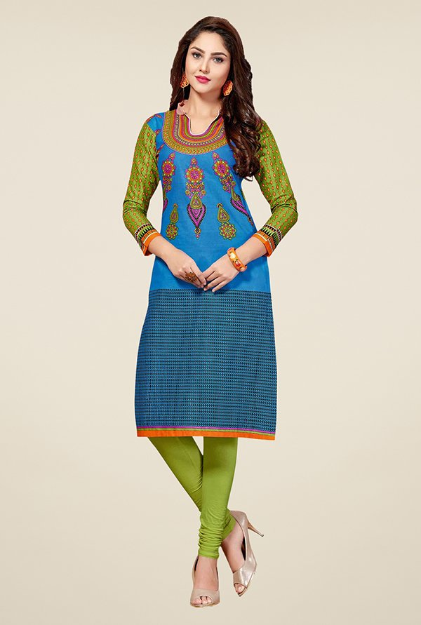 Salwar Studio Blue Unstitched Kurti