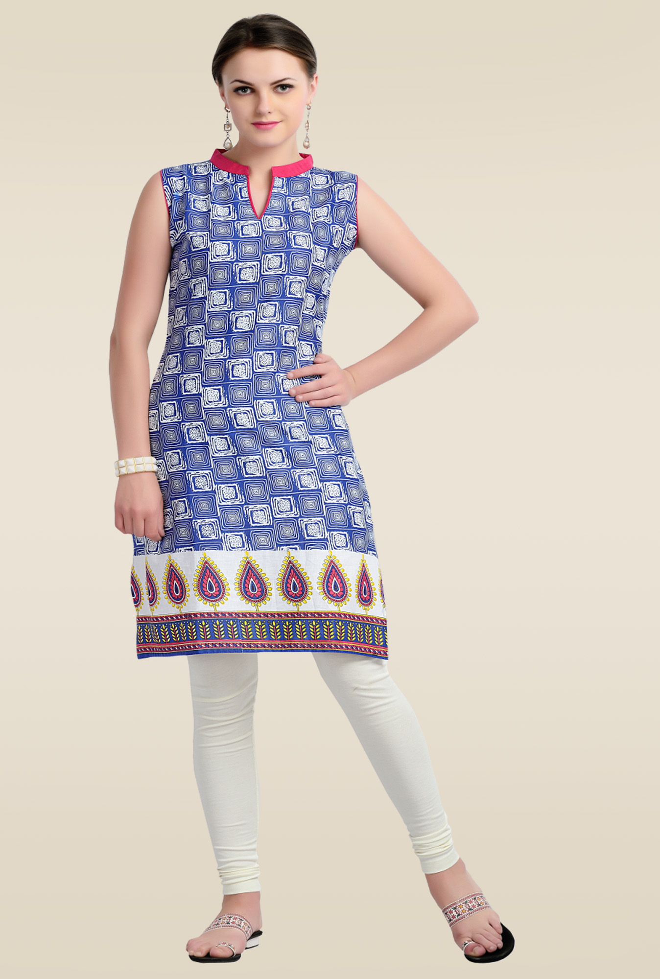 Zola Blue Cotton Kurti