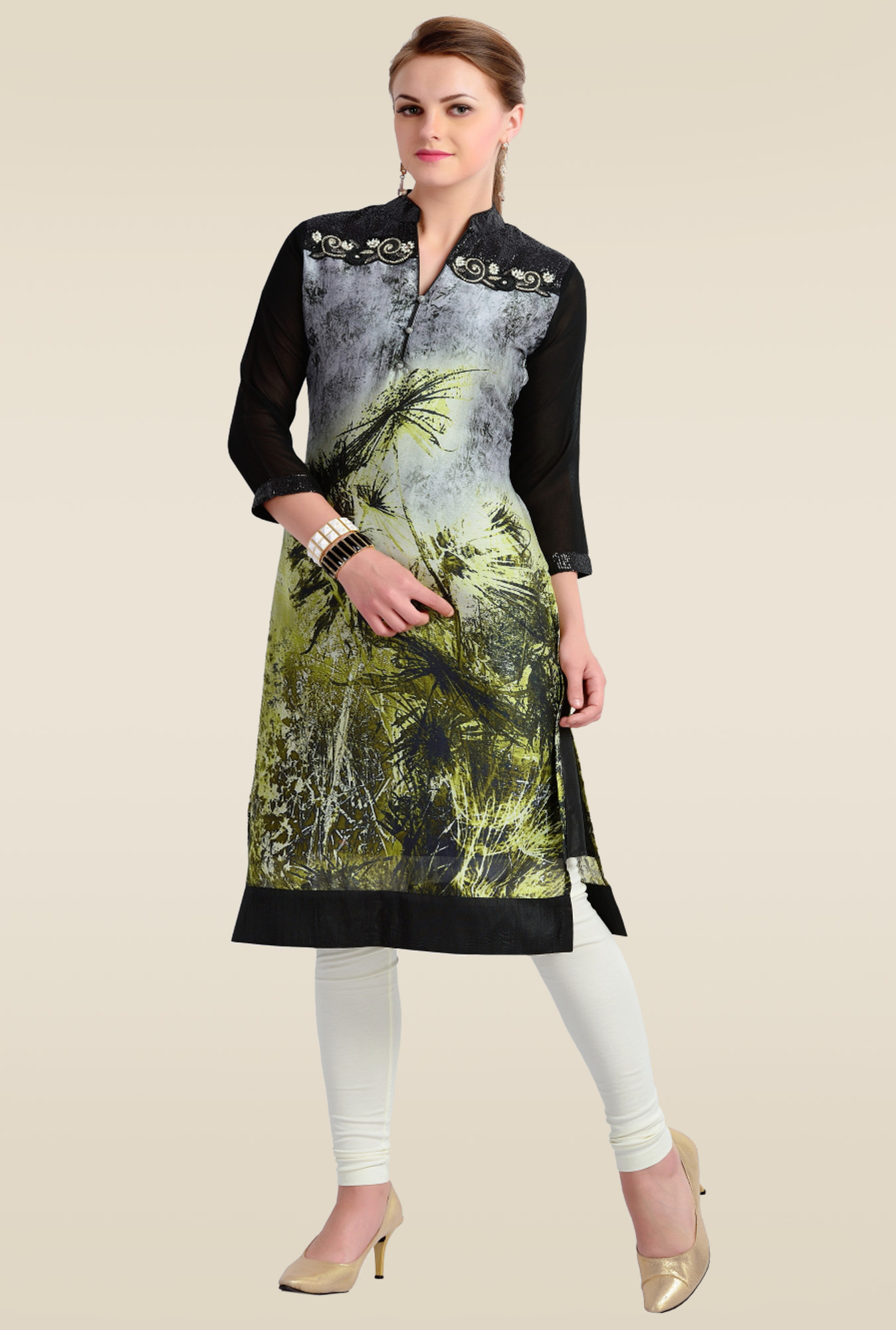 Zola Green 3/4th Sleeves Kurti