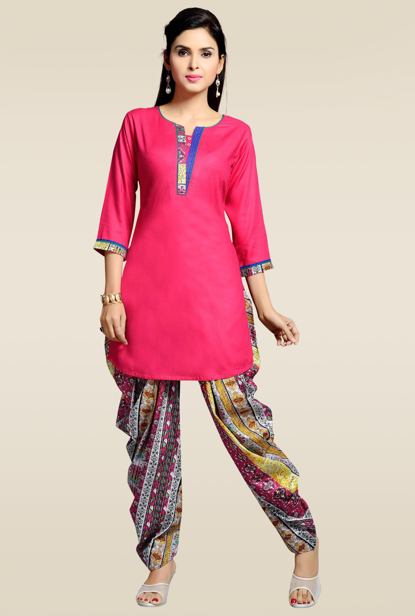 Zola Pink Kurta with Patiyala