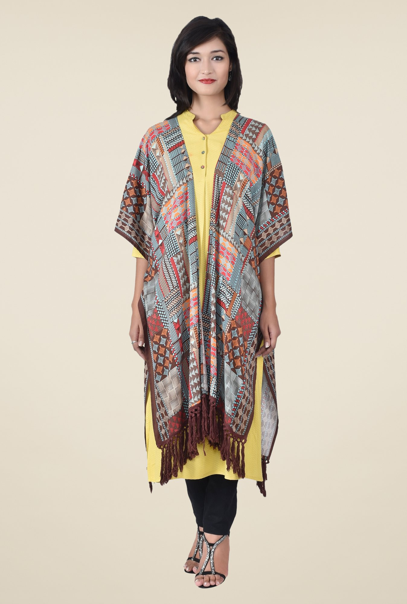 Juniper Multicolor Geometric Print Cardigan