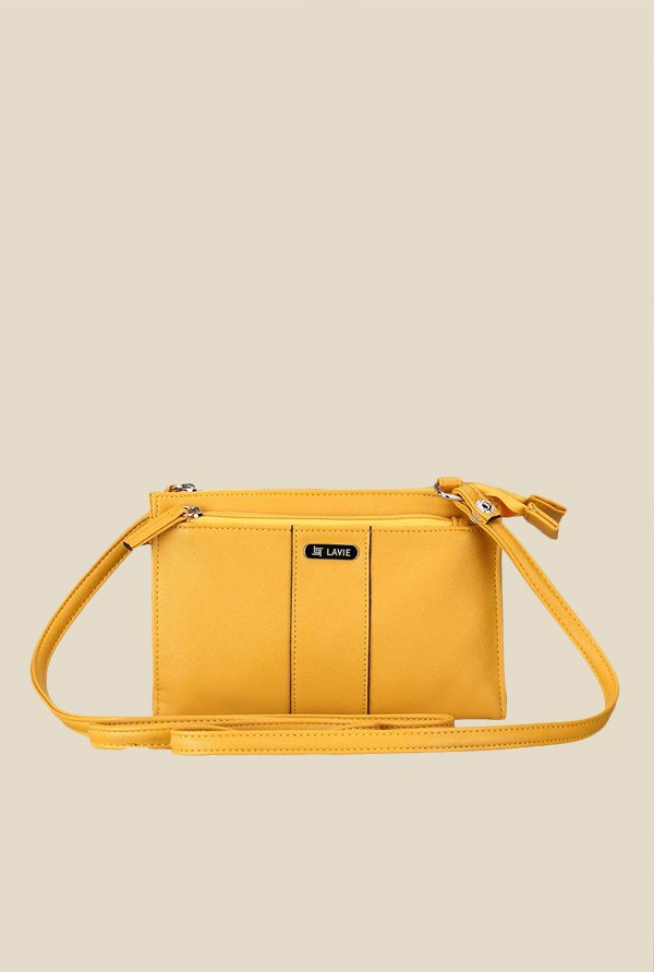 Lavie Steen Ochre Quilted Sling Bag
