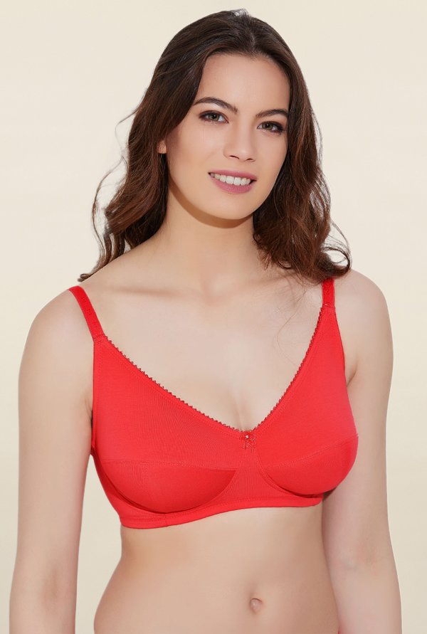 Rosaline By Zivame Red Non Padded Bra