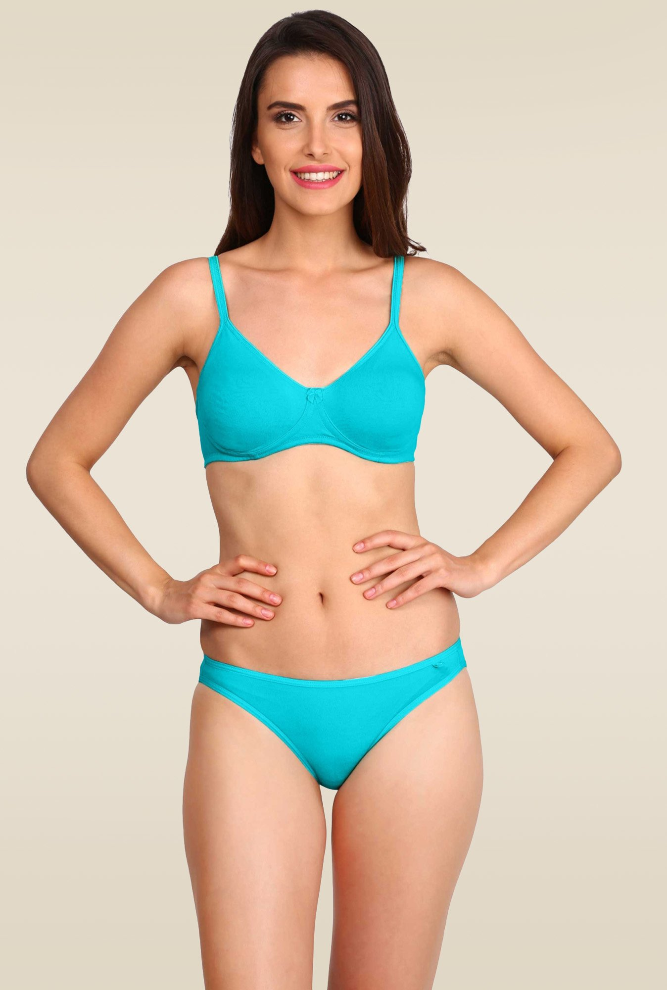Jockey Teal Seamless Shaper Bra - 1722