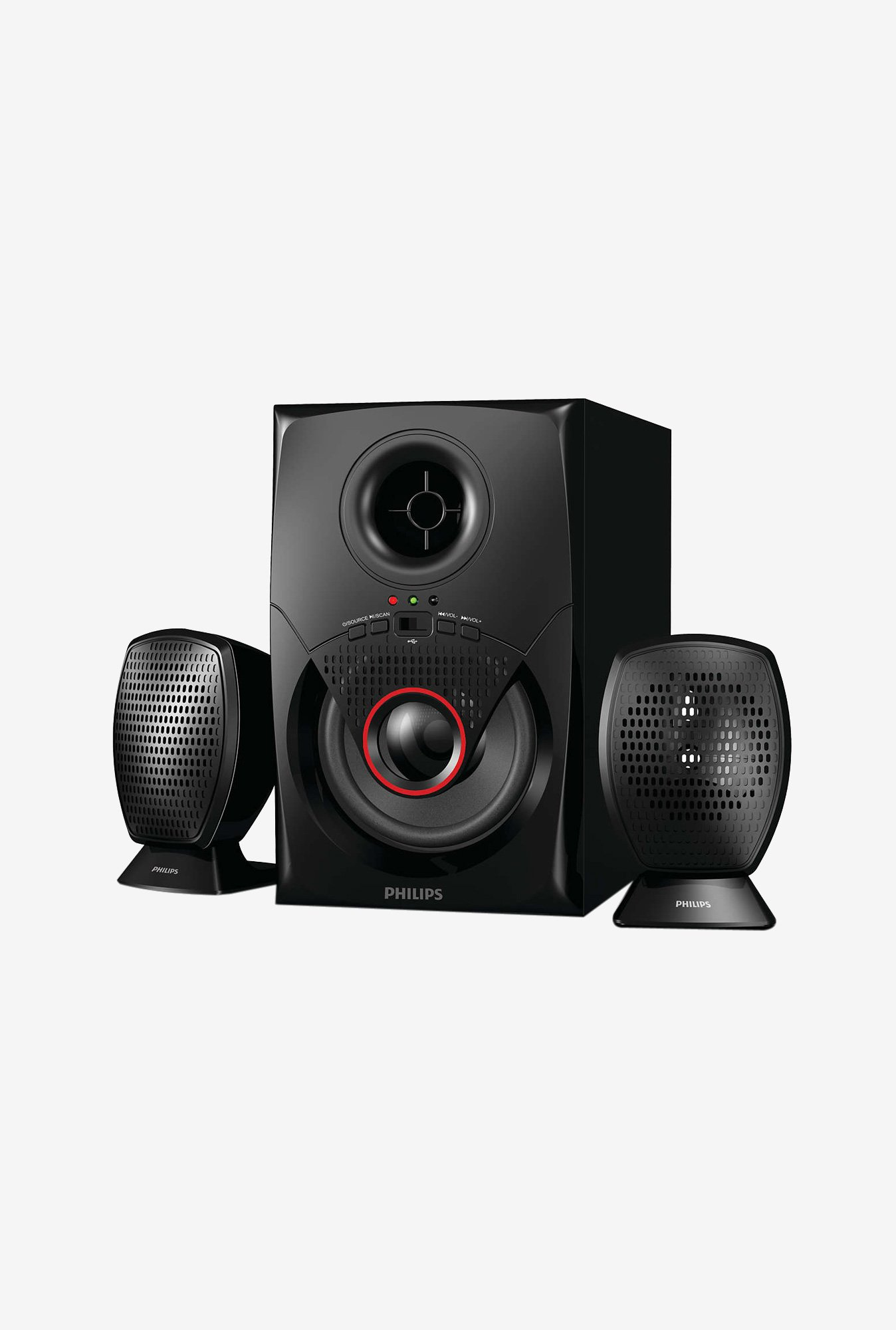 Philips MMS2020F 2.1 Multimedia Speakers (Black)