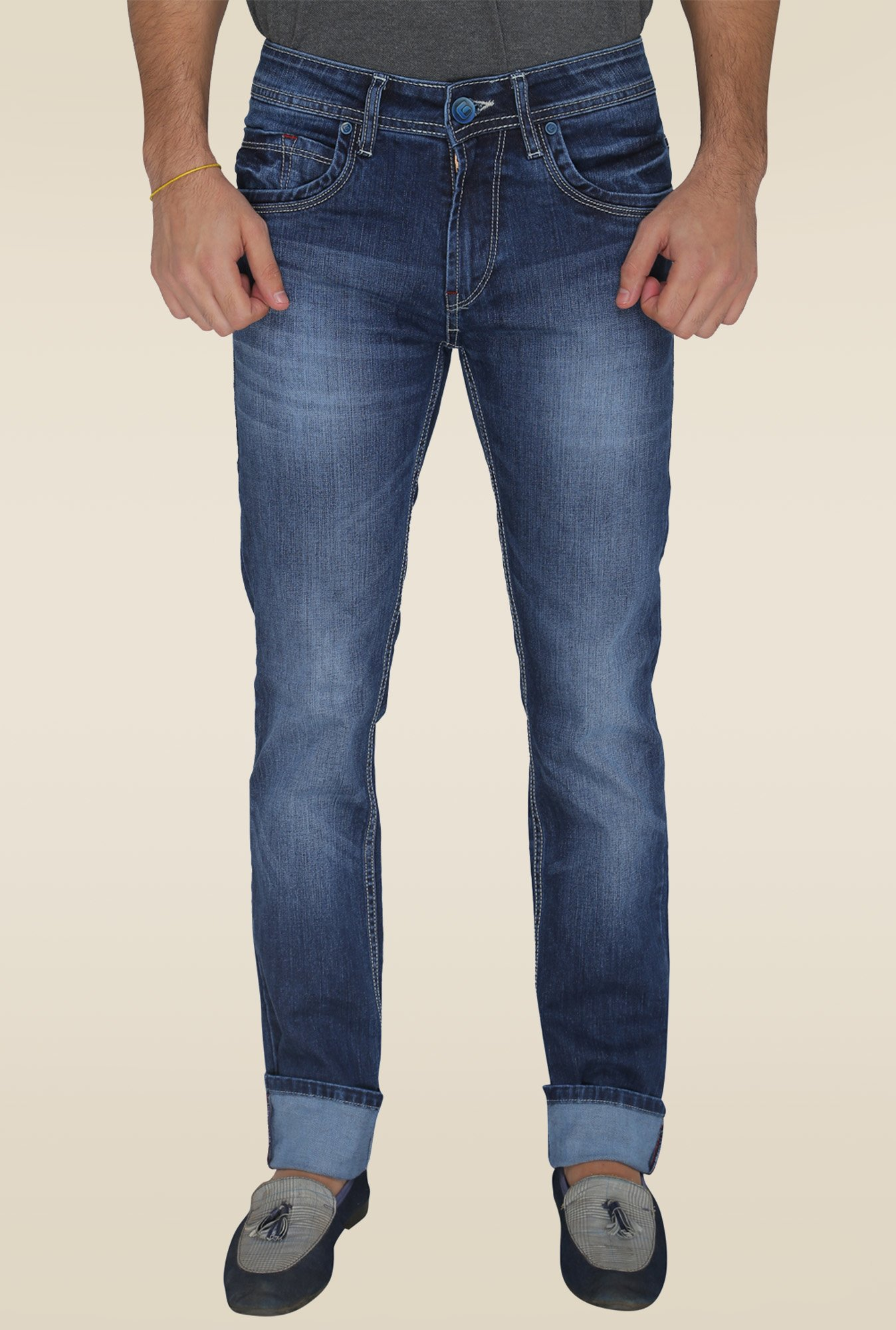 Greenfibre Dark Blue Slim Fit Jeans