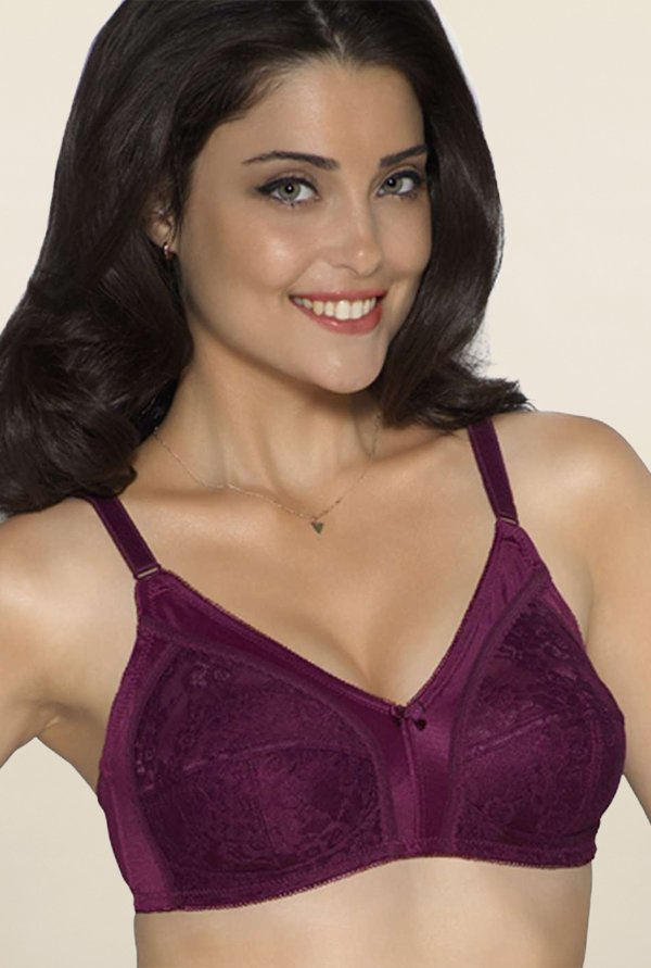 Amante Purple Non Padded Bra