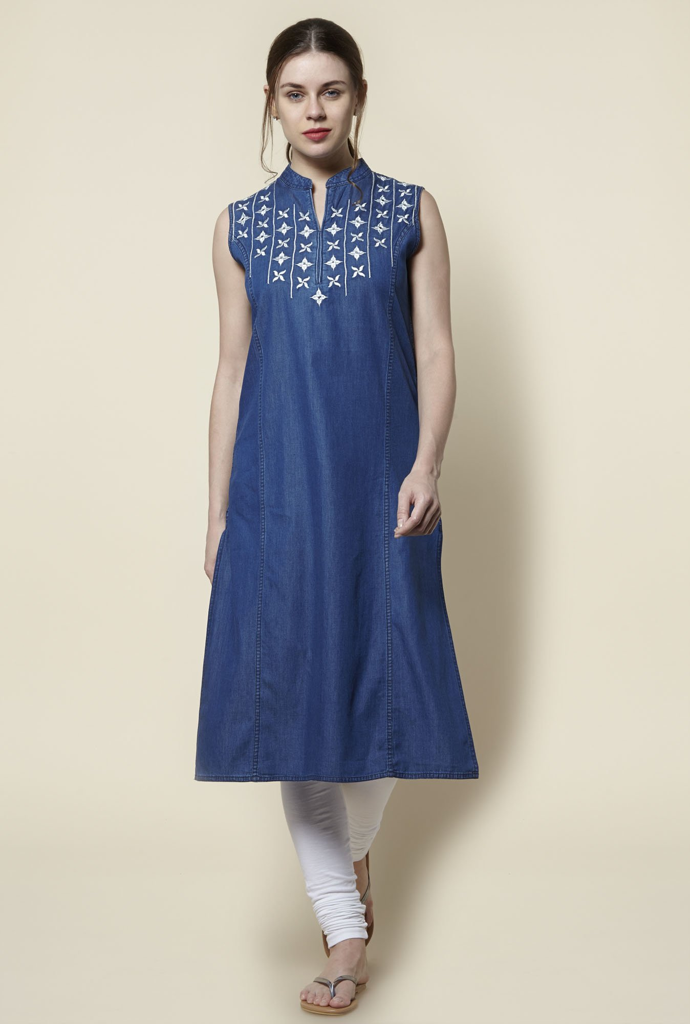 Zudio Indigo Denim Slim Fit Kurta