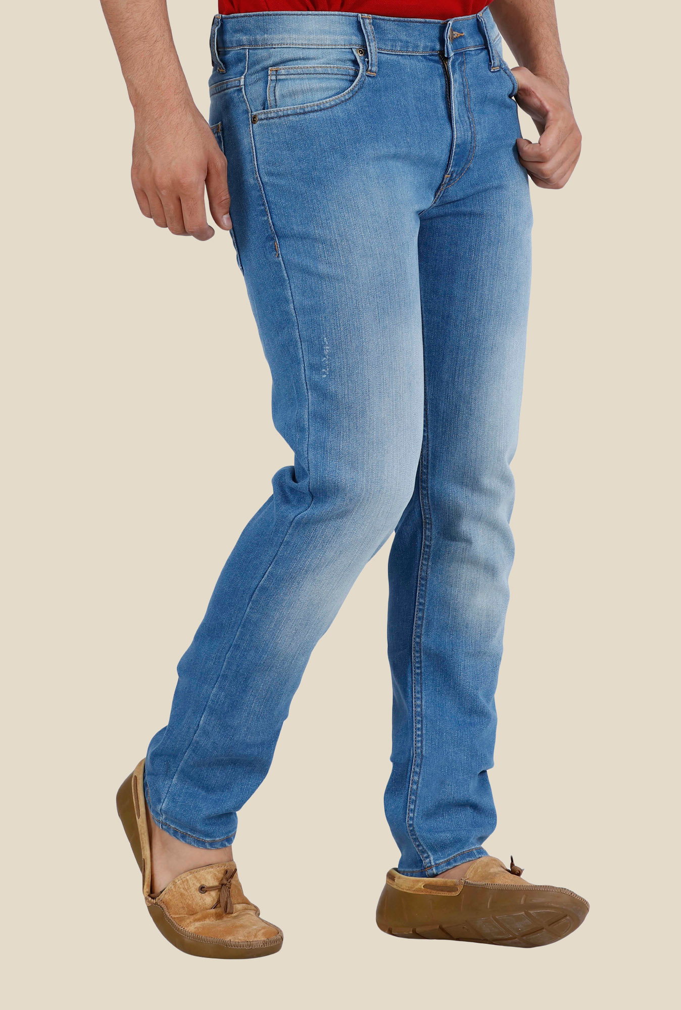 Lee Bruce Blue Low Rise Jeans