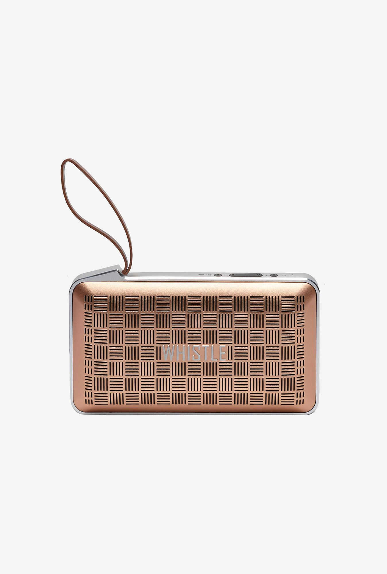 Whistle Smart Portable Bluetooth Speaker (Gold)