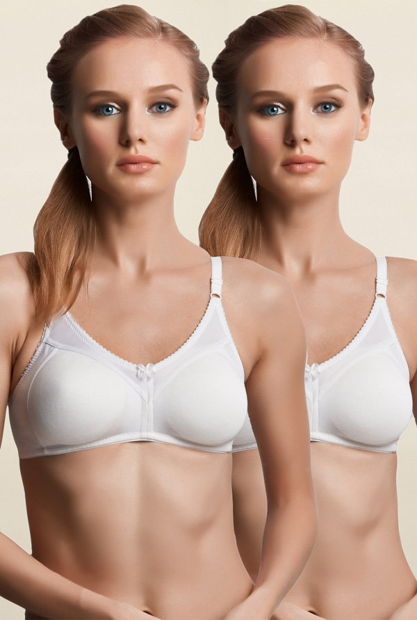 Libertina White Fabulous Non Padded Bra (Pack Of 2)
