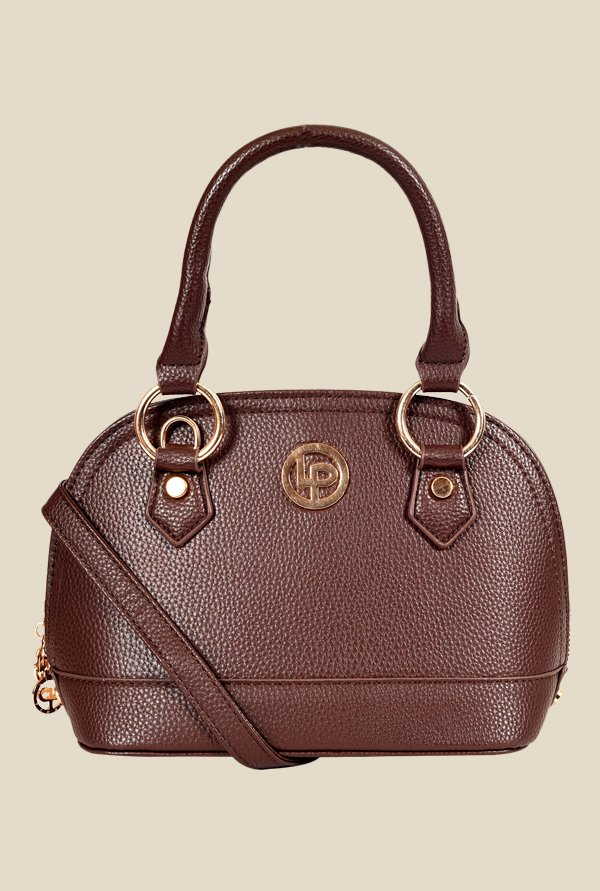 Lino Perros Brown Solid Handbag