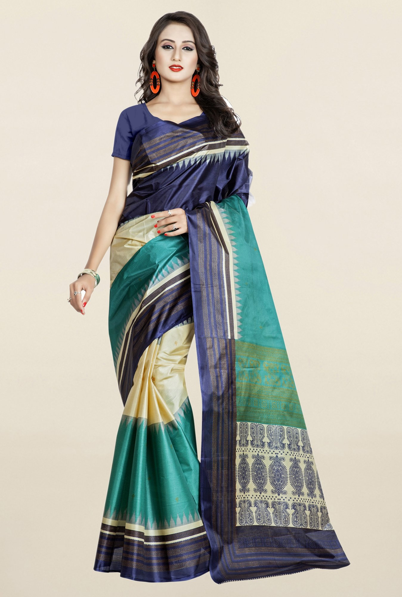 Triveni Multicolor Silk Saree