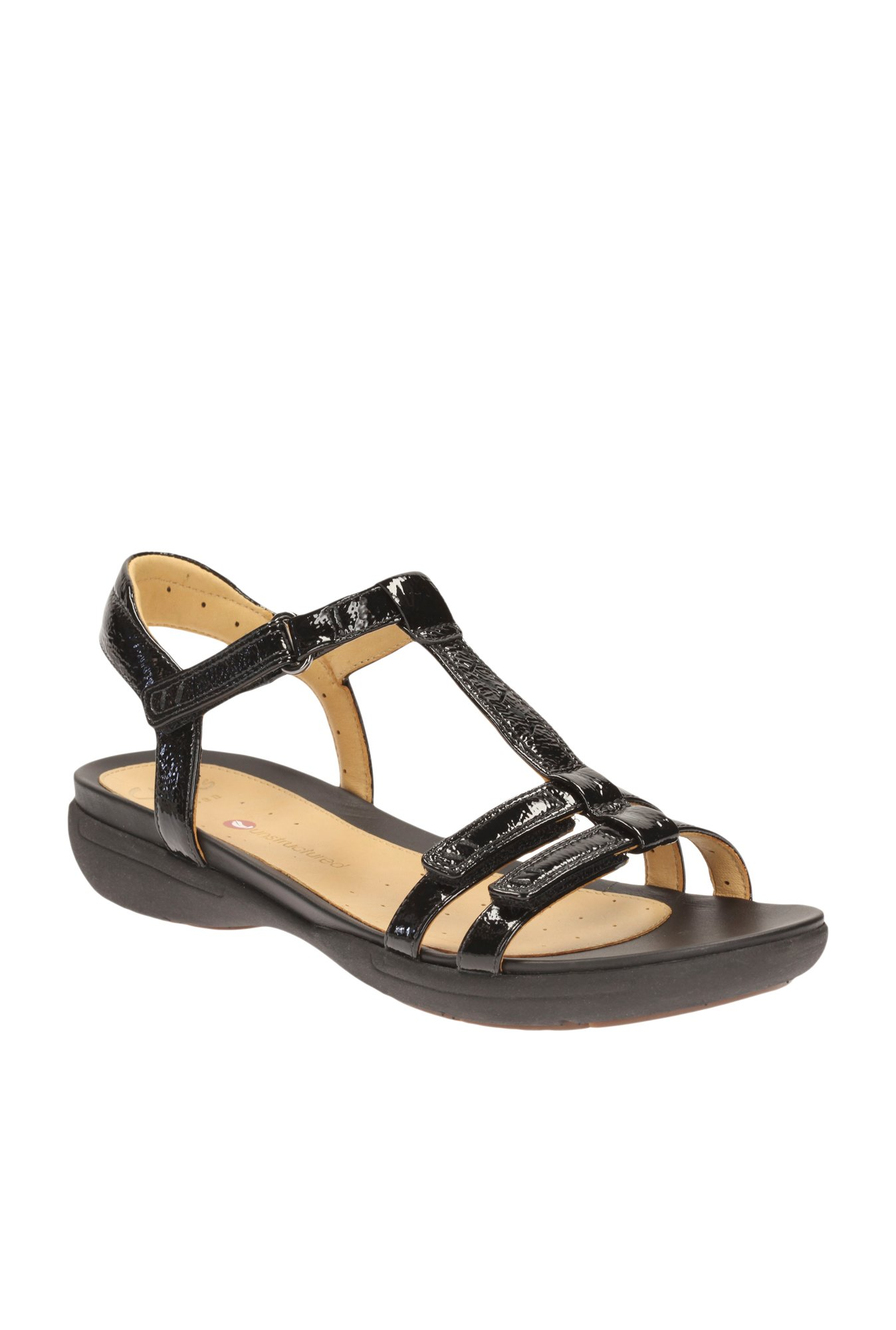 a33b9eba250 Buy Clarks Un Vaze Black T-Strap Sandals for Women at Best Price ...