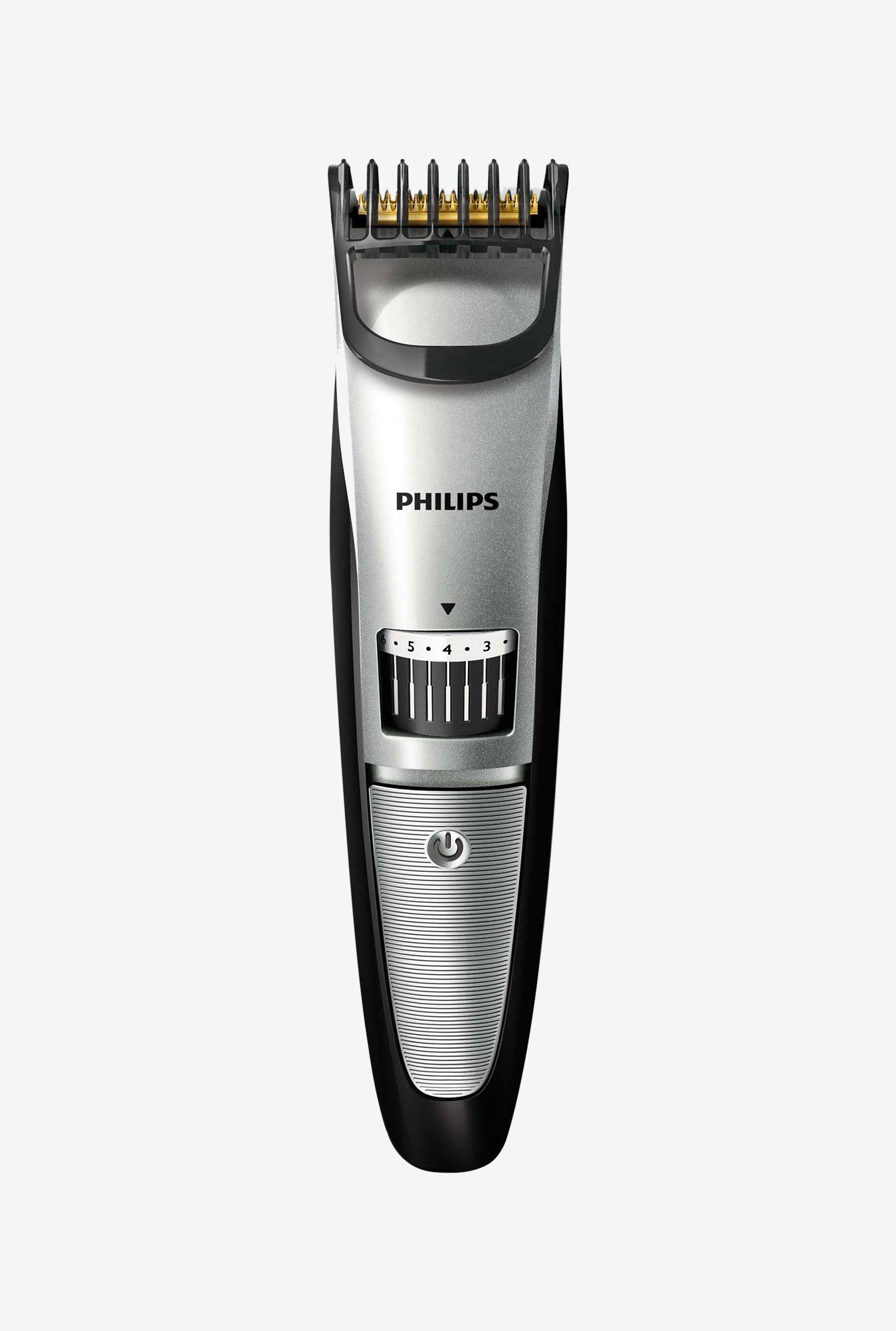 buy philips qt4018 15 pro skin advanced beard trimmer silver online at best price at tatacliq. Black Bedroom Furniture Sets. Home Design Ideas