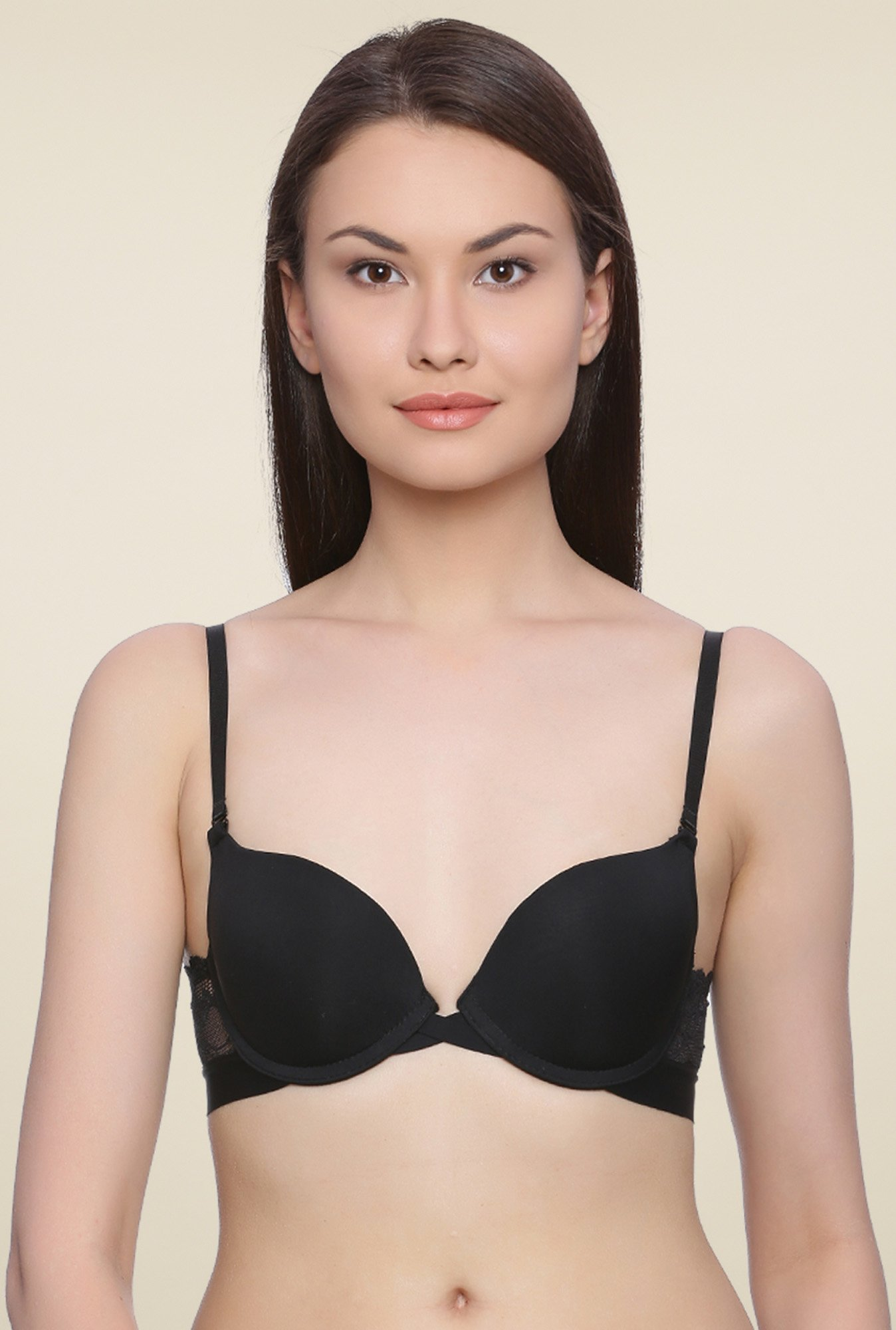 Zivame Black Underwired Lace Bra