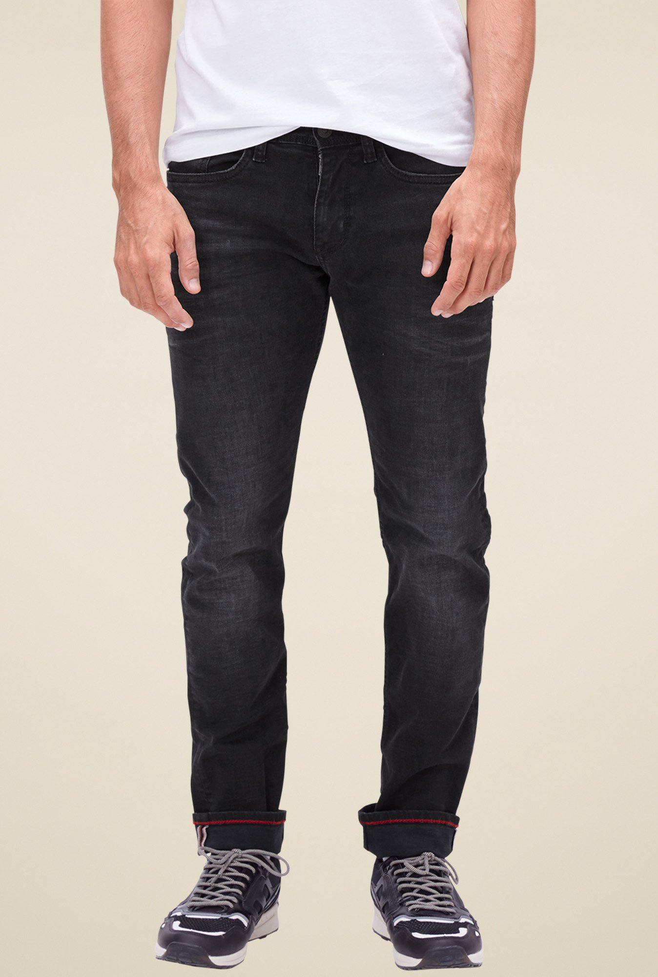 buy s oliver charcoal mid rise jeans for men online tata. Black Bedroom Furniture Sets. Home Design Ideas