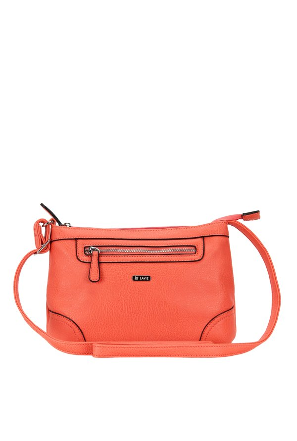 10a156680e8 Buy Lavie Windsor Csb Tangerine Solid Sling Bag For Women At Best Price    Tata CLiQ