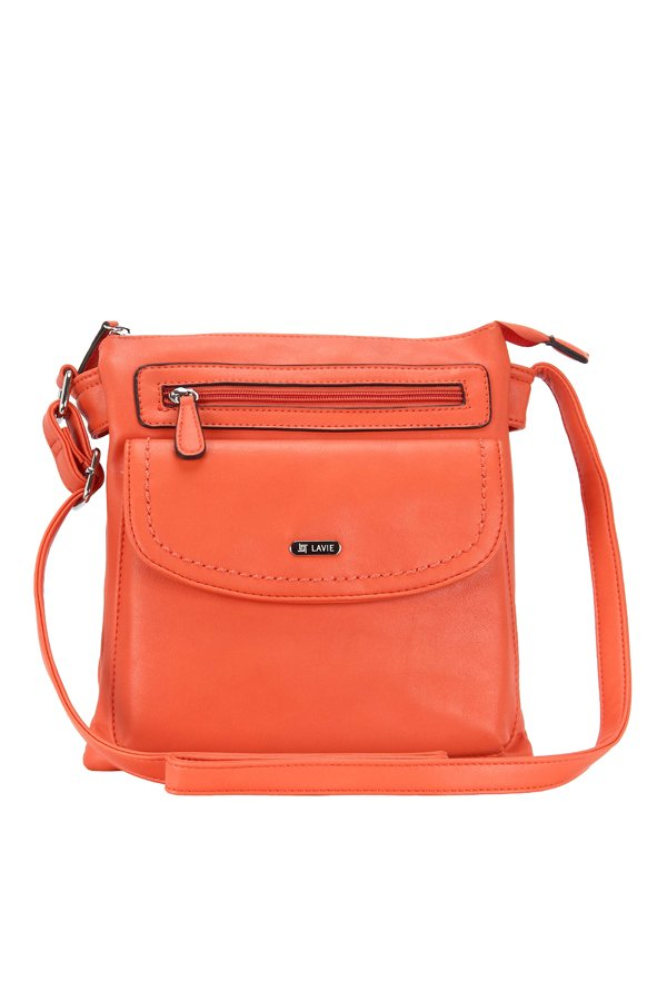 9e0b53da24f Buy Lavie Trim Tangerine Solid Sling Bag For Women At Best Price   Tata CLiQ