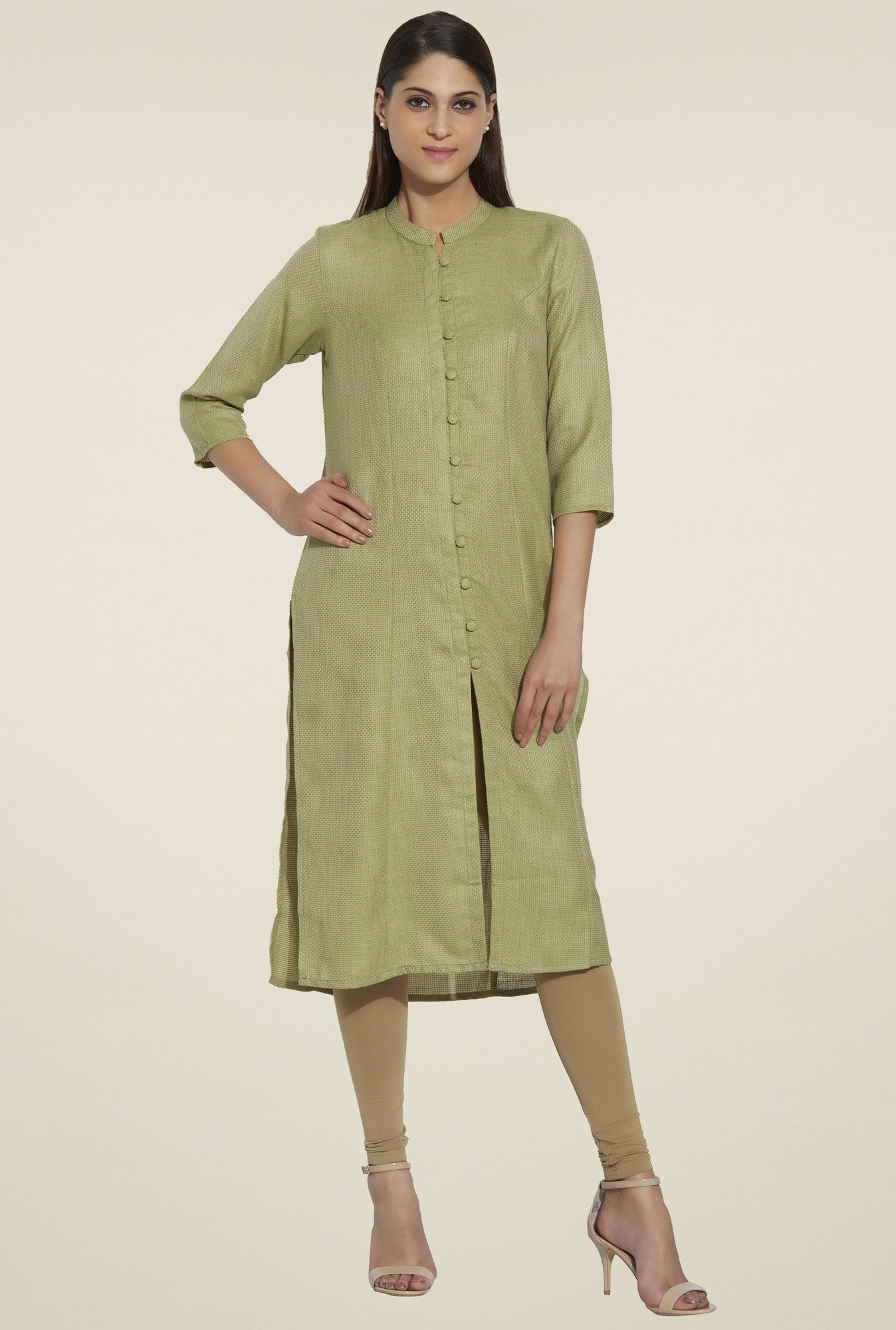 Globus Olive Regular Fit Kurta