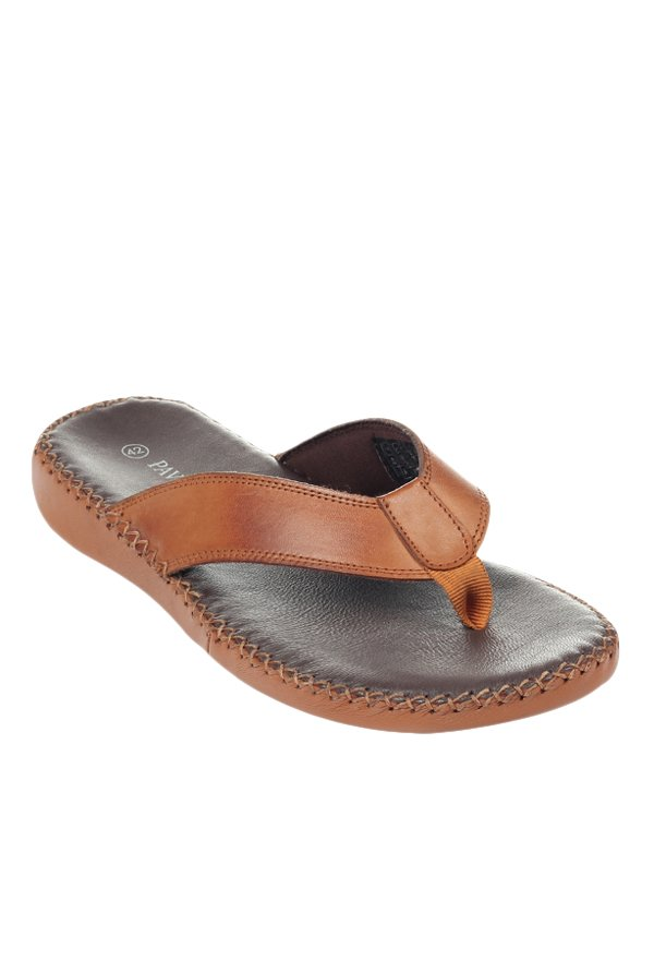 fa9ede13422 Buy Pavers England Tan Thong Sandals for Men at Best Price   Tata ...