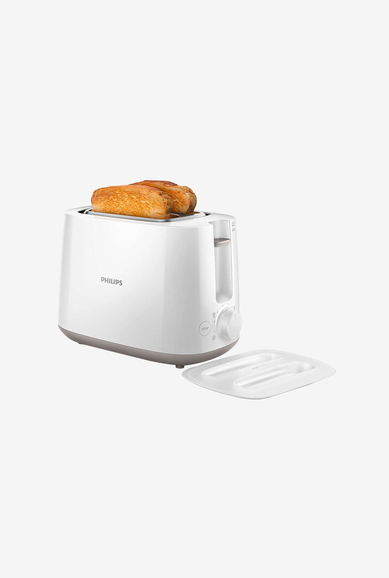 Philips Daily Collection HD2582/00 2 Slice Toaster (White)