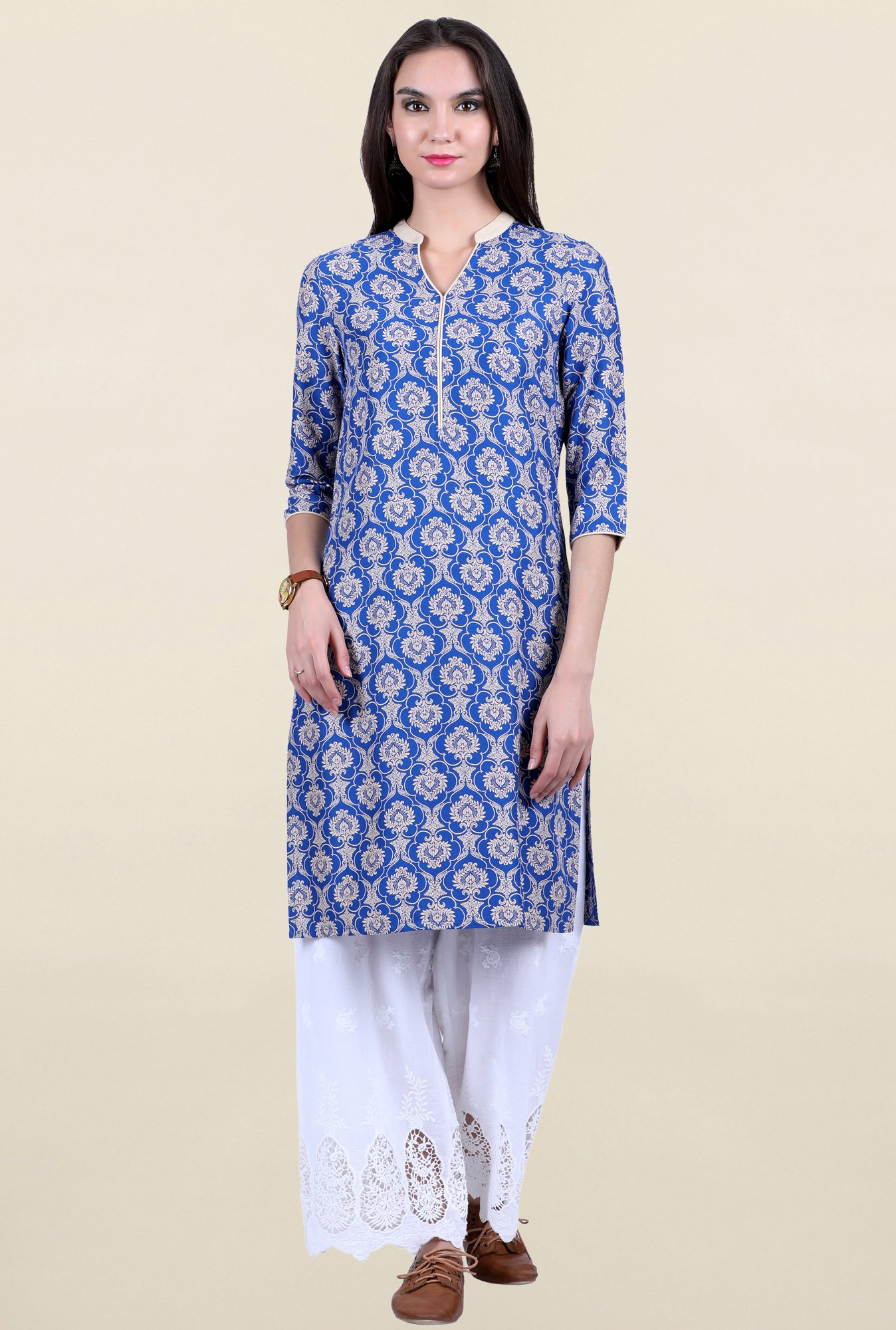 Juniper Blue Printed Kurta