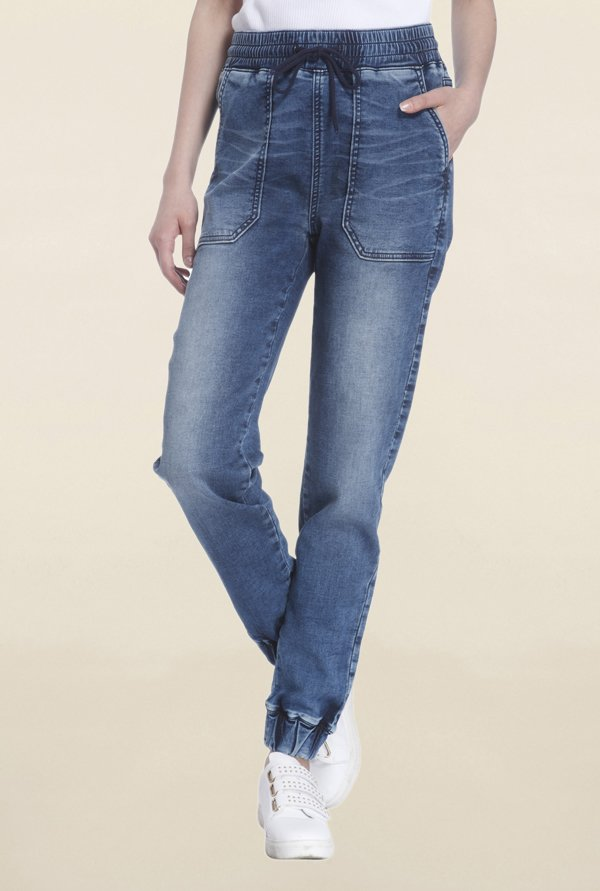 Vero Moda Blue Lightly Washed Joggers
