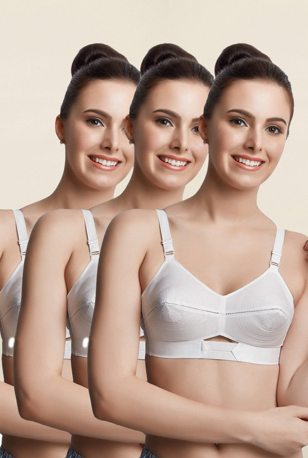 Libertina White Duchess Non Padded Bra (Pack Of 3)