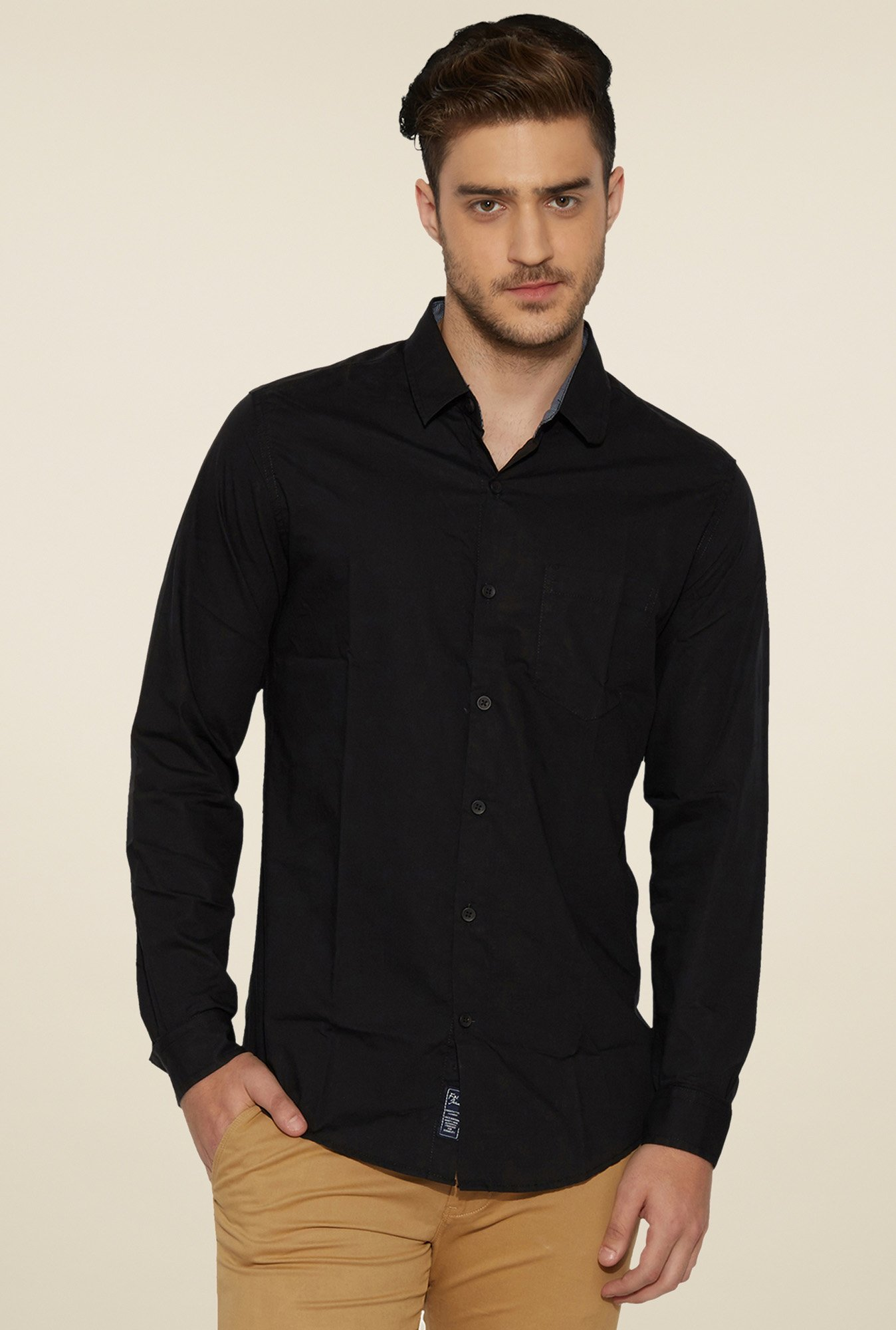 Globus Black Full Sleeves Shirt