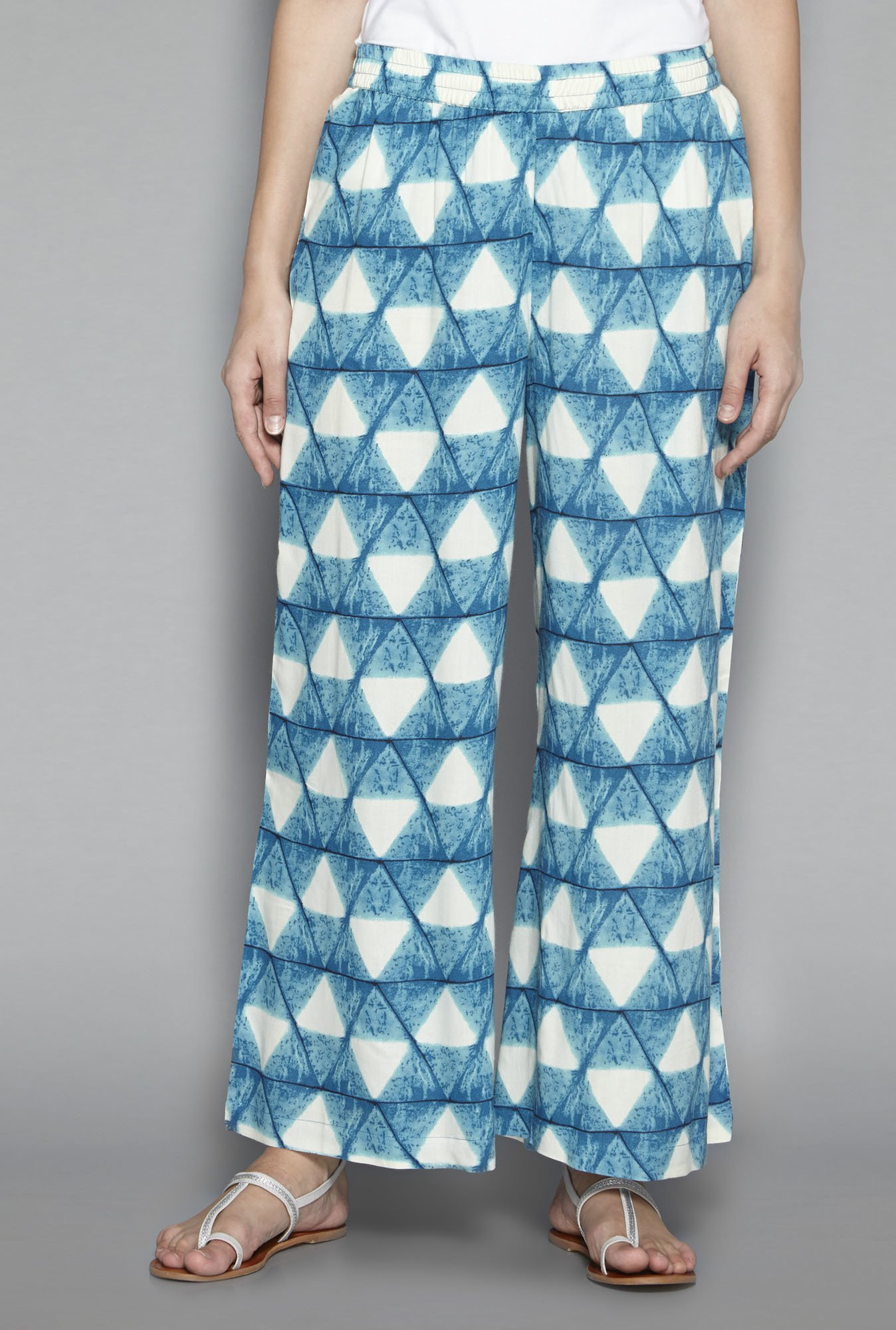 Utsa by Westside Blue Printed Palazzos