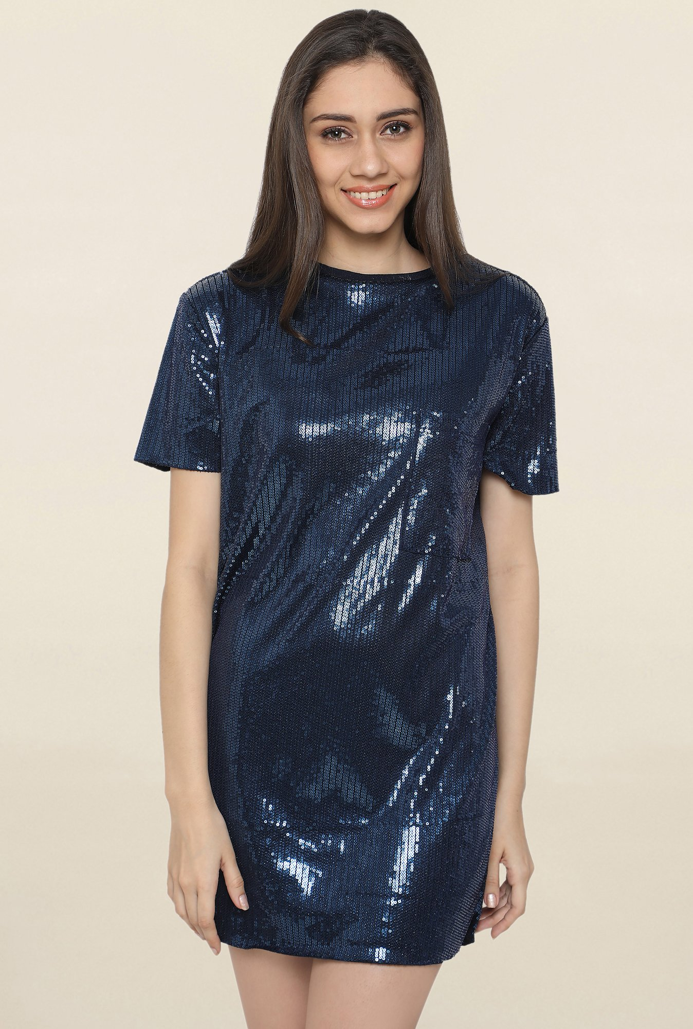 Globus Navy Embellished Dress