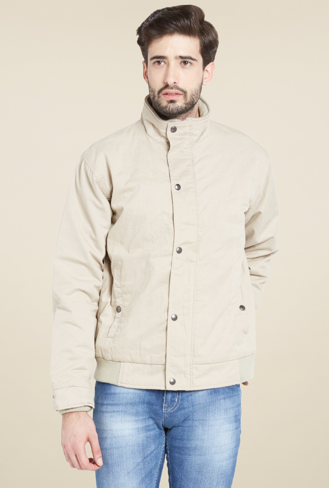 Globus Beige High Neck Jacket