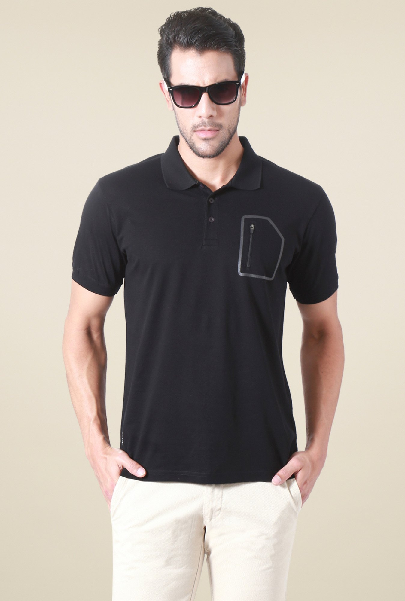 Allen Solly Black Half Sleeves T-Shirt