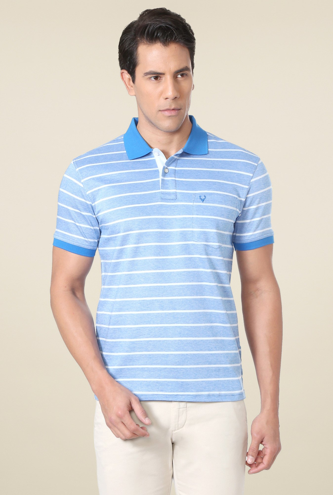 Allen Solly Blue Half Sleeves T-Shirt