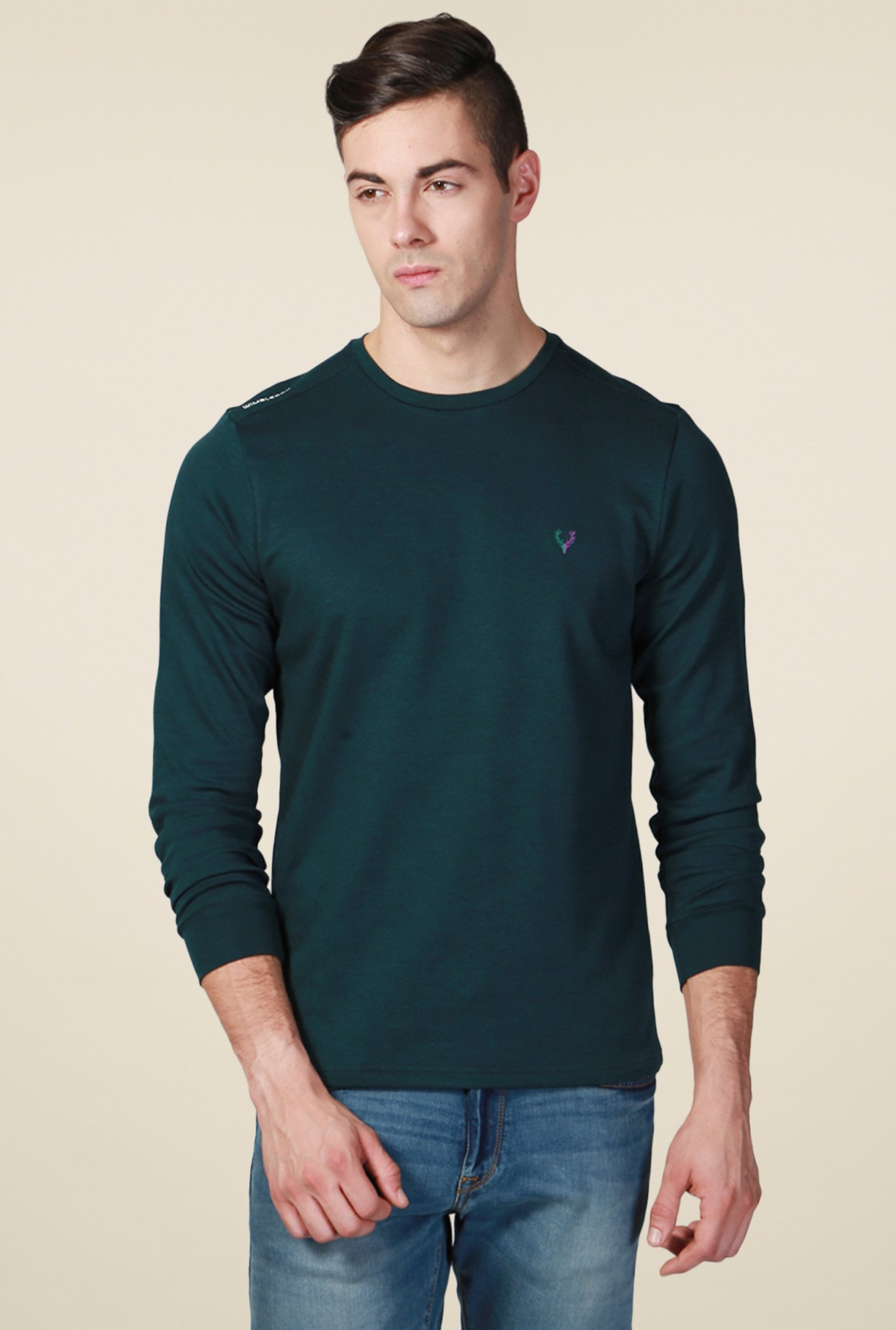 Allen Solly Dark Green Full Sleeves T-Shirt