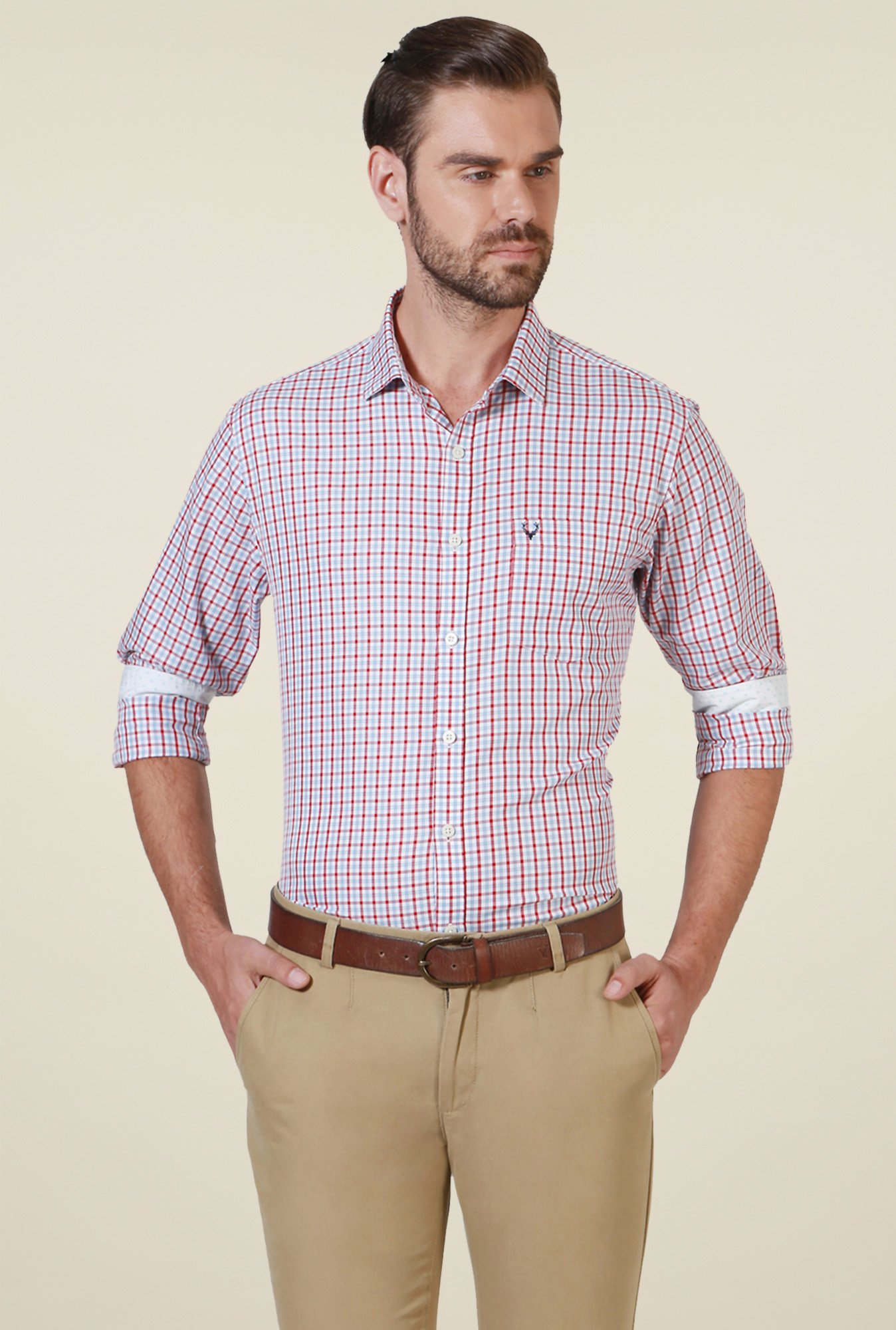 Allen Solly Red Checks Shirt