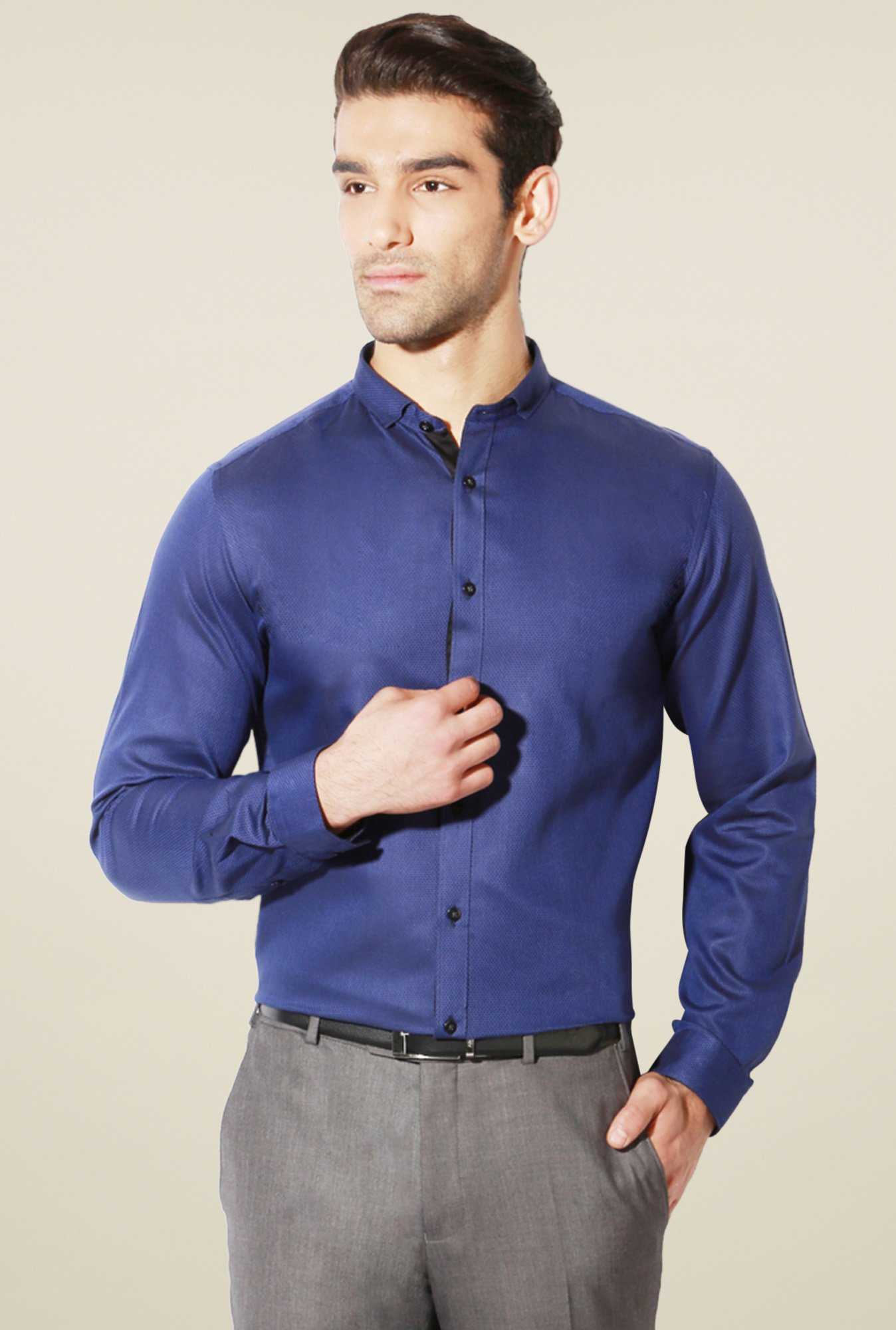 Van Heusen Royal Blue Cotton Shirt