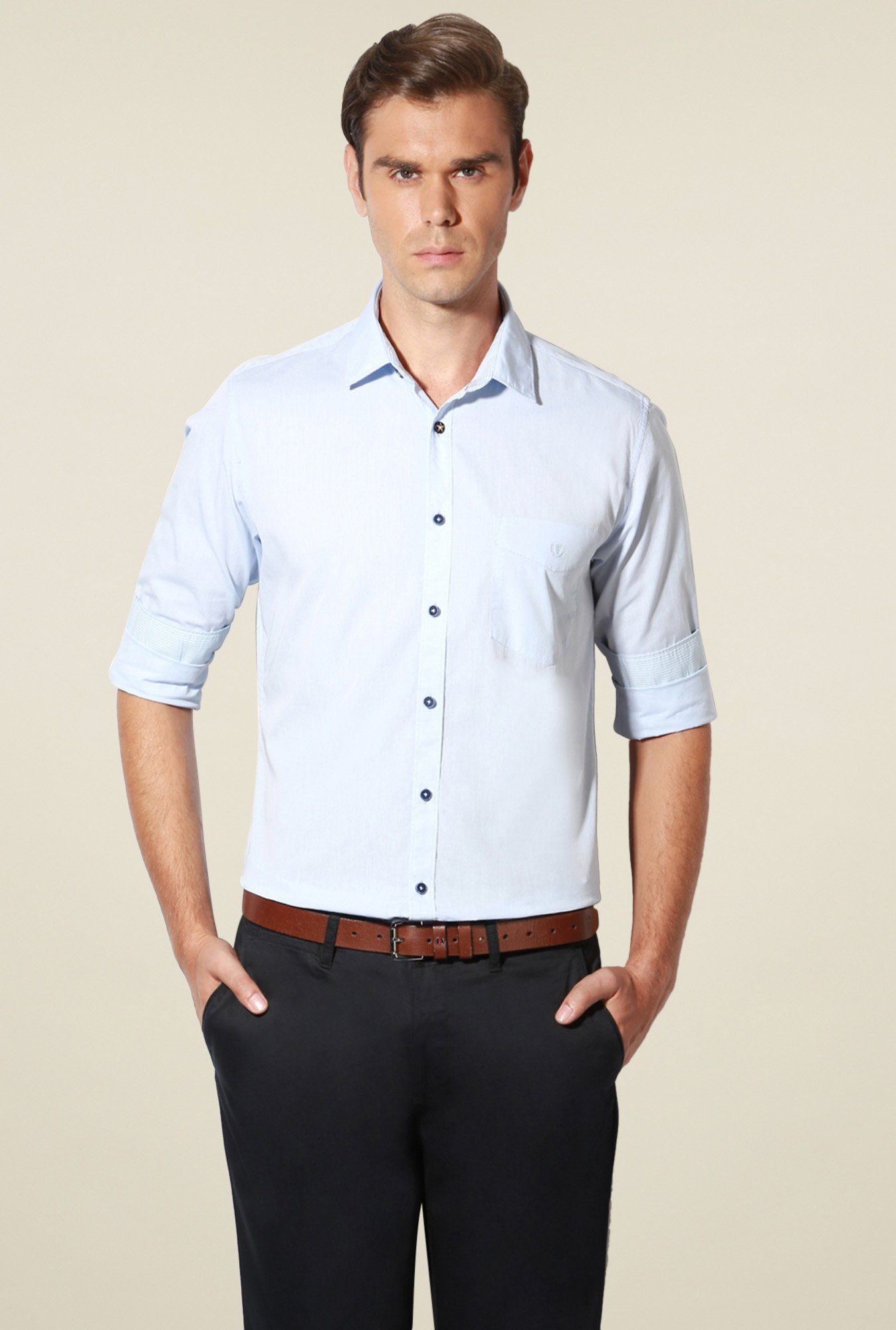 Van Heusen Light Blue Cotton Shirt