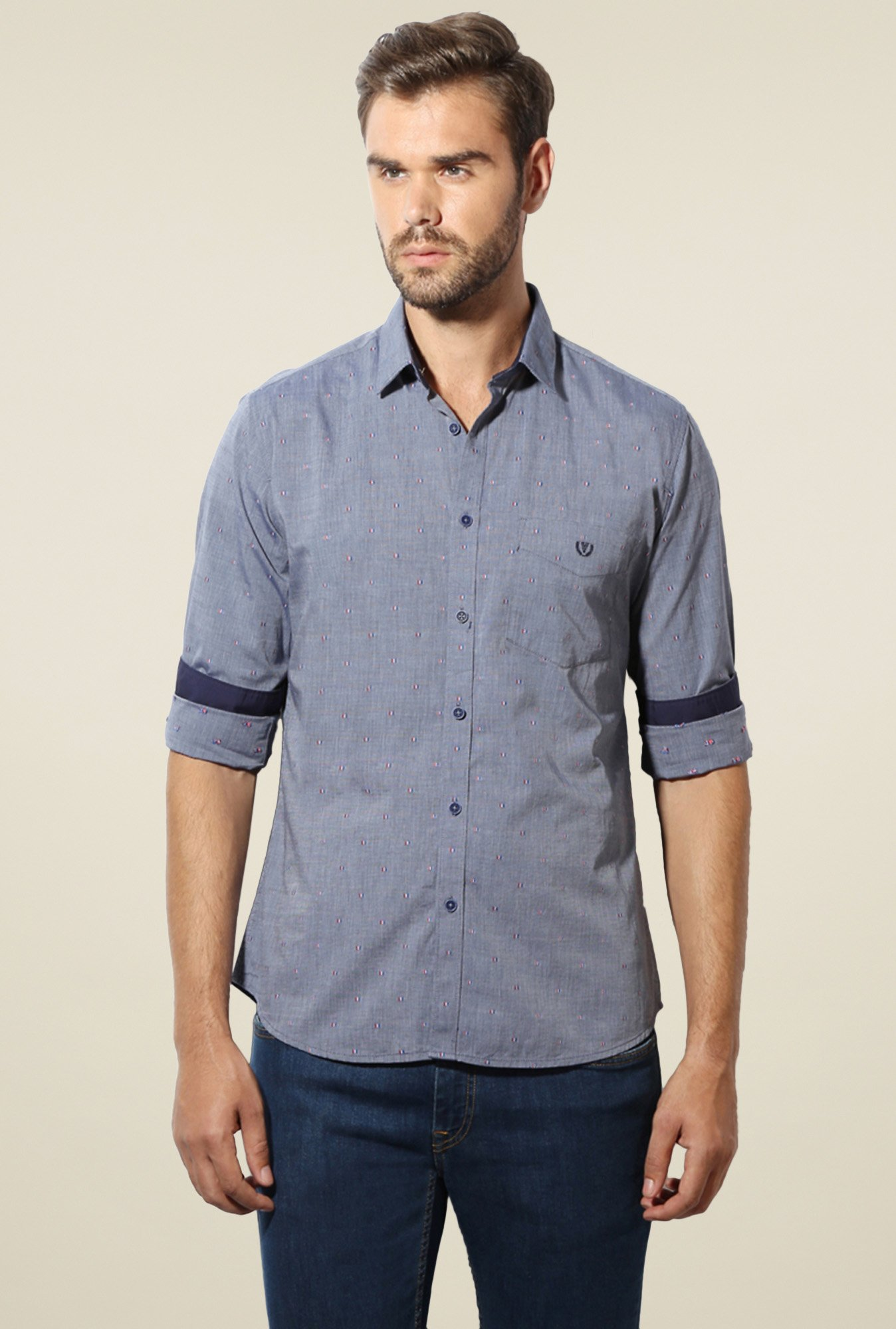 Van Heusen Grey Slim Fit Shirt