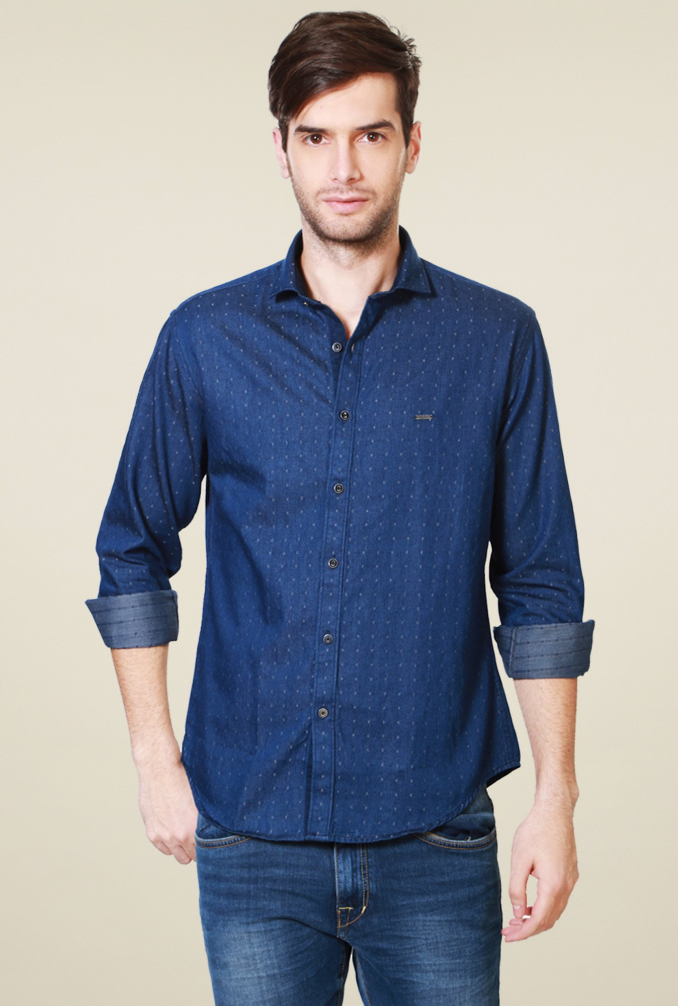 Van Heusen Dark Blue Slim Fit Shirt
