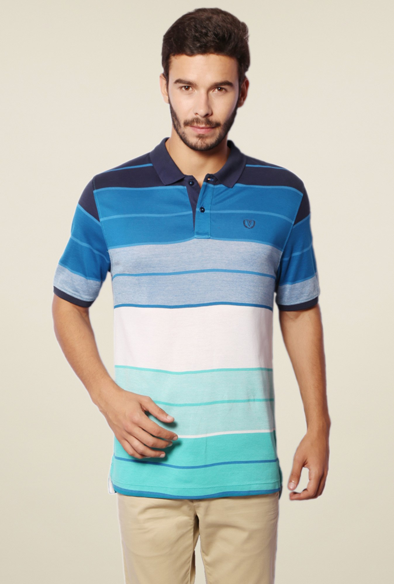 Van Heusen Multicolor Cotton Polo T-Shirt
