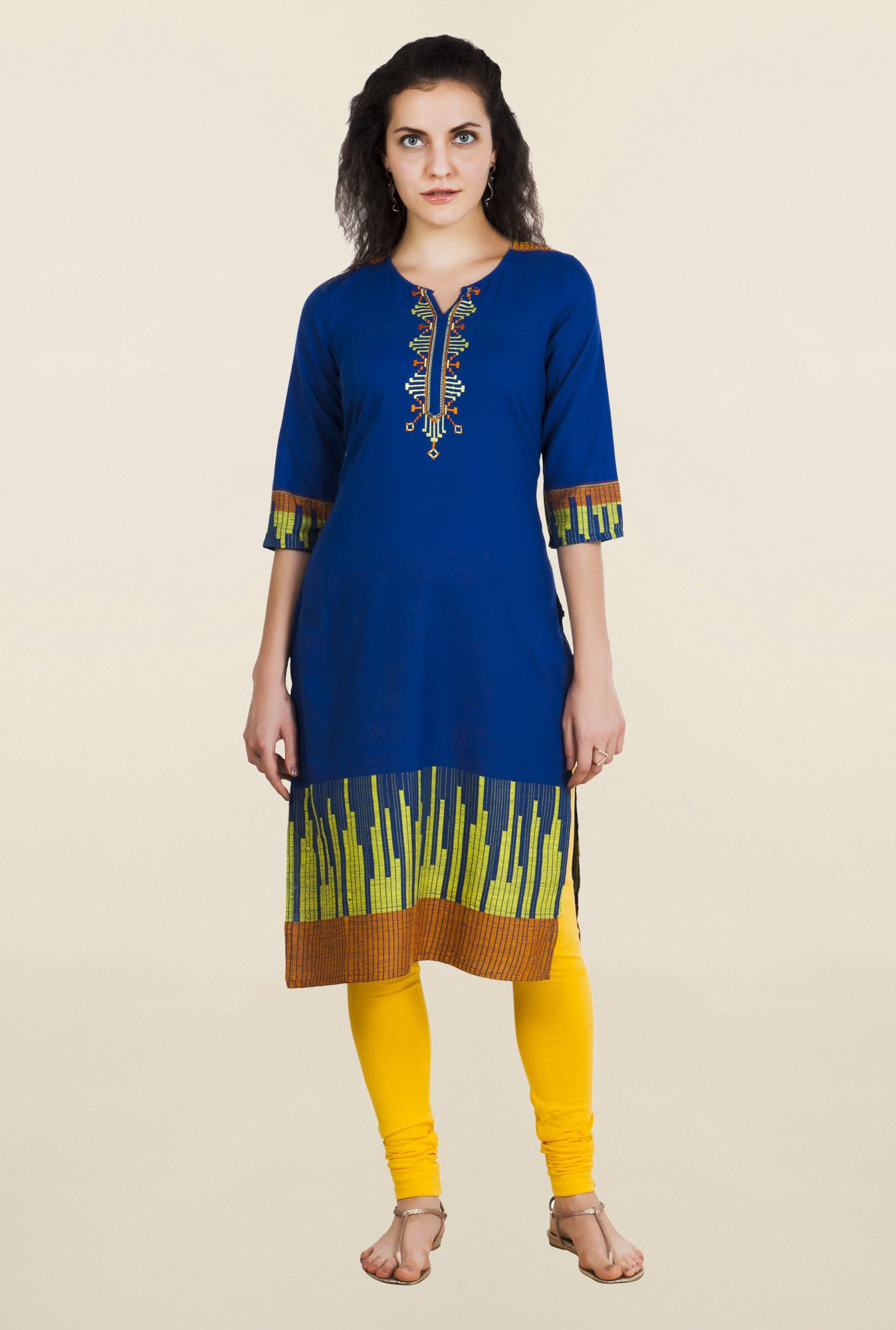 Aurelia Blue Embroidered Kurta