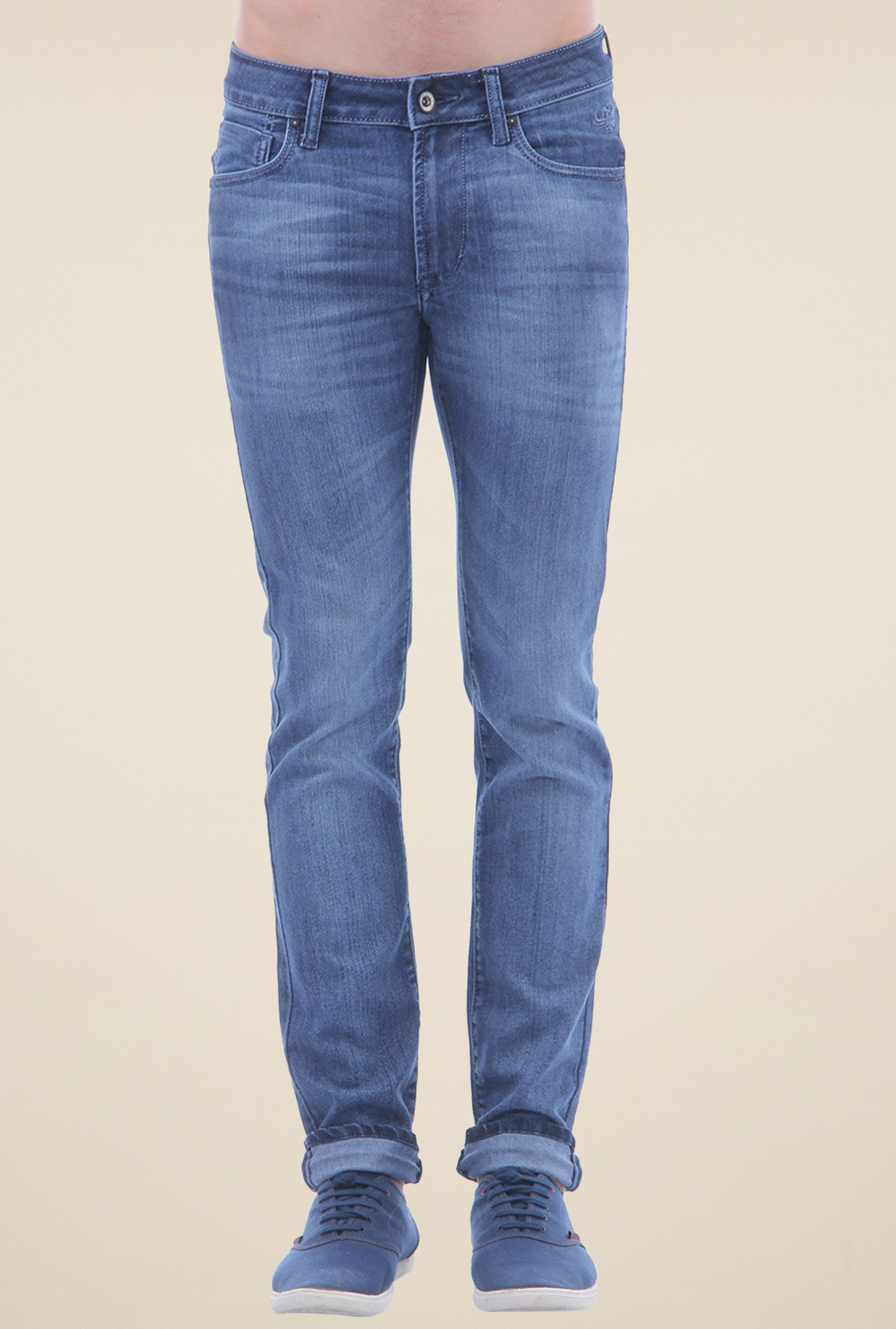 Flying Machine Blue Low Rise Jeans