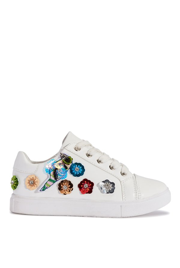 Truffle Collection White & Blue Sneakers
