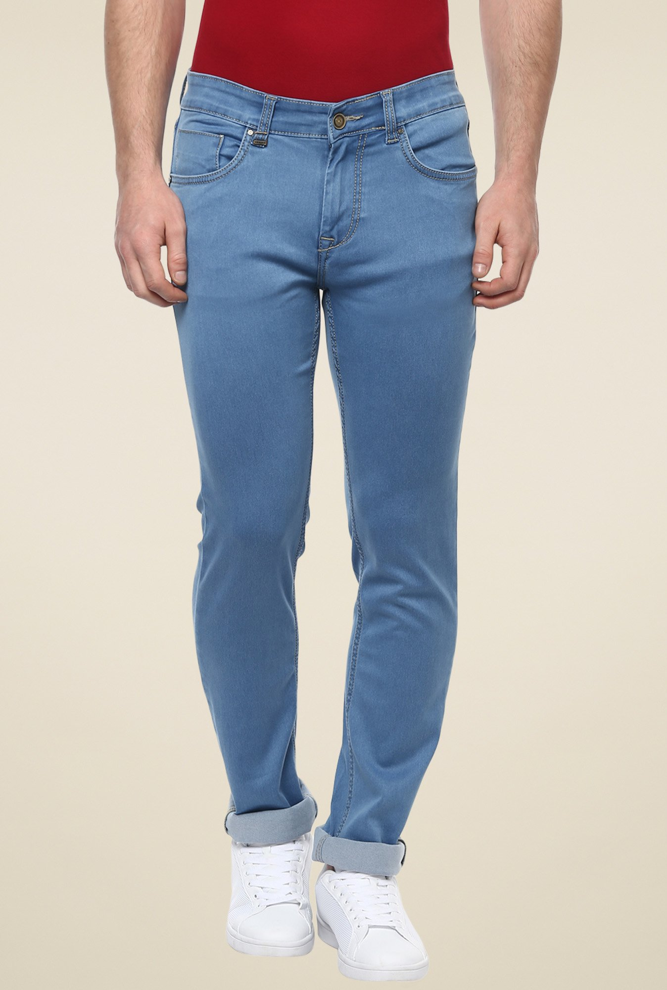 Turtle Blue Low Rise Slim Fit Jeans