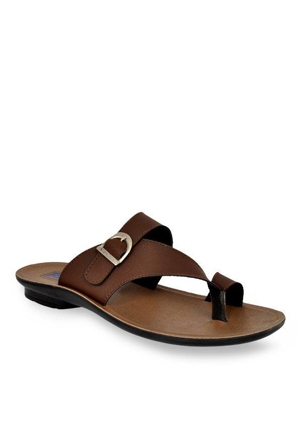 Allen Cooper Brown Toe Ring Sandals