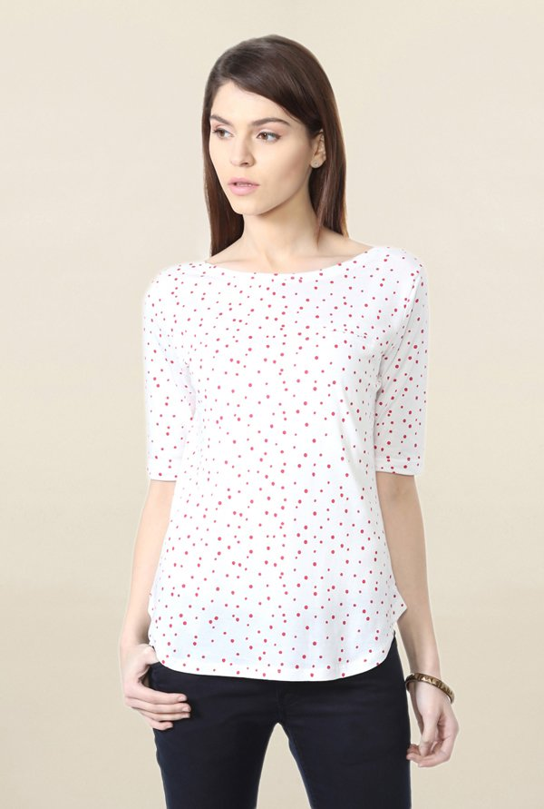 People White Polka Dot Top